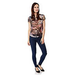 Uttam Boutique - Multicoloured  Maple Leaf Print Top