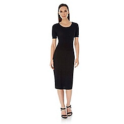 Uttam Boutique - Black knitted midi dress