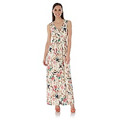 Uttam Boutique - Multicoloured  Eastern Floral Print Maxi Dress