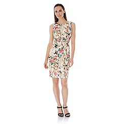Uttam Boutique - Multicoloured  Eastern Floral Print Party Dress