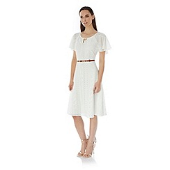Uttam Boutique - White Lace Peasant Day Dress