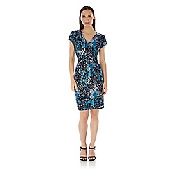 Uttam Boutique - Blue Snake Print Wrap Dress