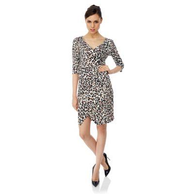 Uttam Boutique Leopard print wrap dress
