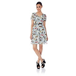 Uttam Boutique - Noah's safari print tea dress