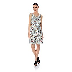 Uttam Boutique - Noah's safari print cowl neck dress
