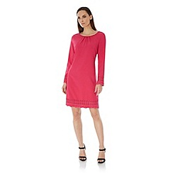 Uttam Boutique - Pink Long Sleeve Lace Shift Dress