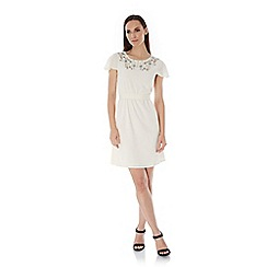 Uttam Boutique - Cream Embellished Day Dress