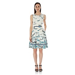 Uttam Boutique - Blue Dragonfly Print Day Dress