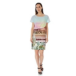 Uttam Boutique - Multicoloured  Palm Springs Cactus Print Tunic Dress
