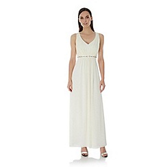 Uttam Boutique - Cream Embellished Maxi Dress