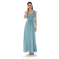 Uttam Boutique - Blue Embellished Maxi Dress