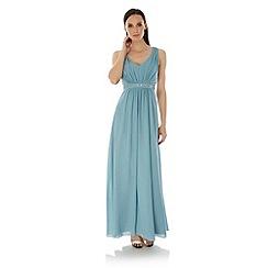 Uttam Boutique - Blue Embellished Maxi Dress
