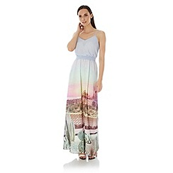 Uttam Boutique - Multicoloured  Palm Springs Cactus Print Maxi Dress