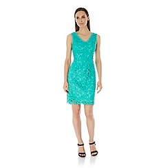 Uttam Boutique - Green Lace Occasion Dress