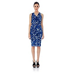 Uttam Boutique - Koons print cowl neck dress