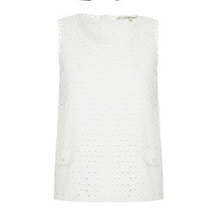 Uttam Boutique - Broderie anglaise top with scalloped trim