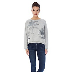 Uttam Boutique - Palm tree print sweat top.