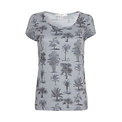 Uttam Boutique - Palm tree print t-shirt.