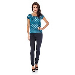 Uttam Boutique - Geo flower print t-shirt