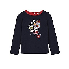 Uttam Kids - Blue panda print long sleeve top