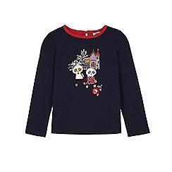 Uttam Kids - Blue panda print long sleeve top