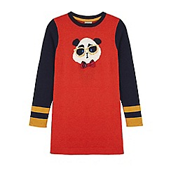 Uttam Kids - Red panda print jumper dress