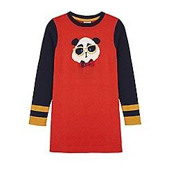 Uttam Kids - Red panda print jumper dress