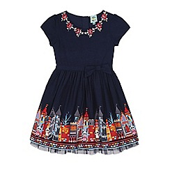 Uttam Kids - Blue school print dress