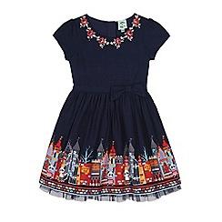 Uttam Kids - Blue school print dress