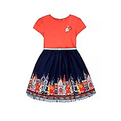 Uttam Kids - Red panda city print t-shirt dress
