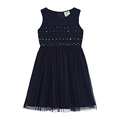 Uttam Kids - Blue sequin lace party dress
