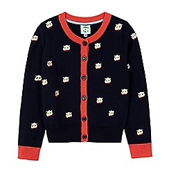 Uttam Kids - Blue panda with glasses embroidered cardigan