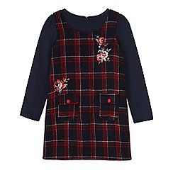 Uttam Kids - Blue check rose print tunic dress