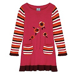 Uttam Kids - Pink poppy print jumper dress