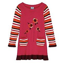 Uttam Kids - Pink poppy print jumper dress
