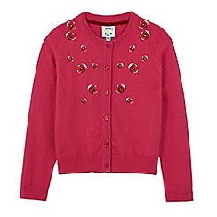Uttam Kids - Pink poppy embroidery cardigan