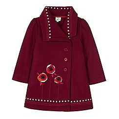 Uttam Kids - Red asymmetric collar coat