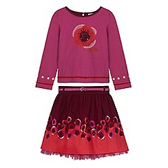 Uttam Kids - Pink poppy t-shirt and skirt set