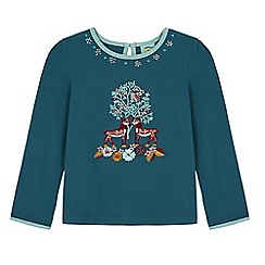 Uttam Kids - Green forest embroidered long sleeved top