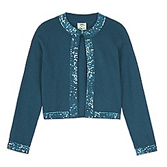 Uttam Kids - Green sequin trim cardigan
