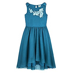 Uttam Kids - Green high low hem party dress