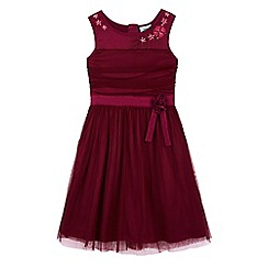 Uttam Kids - Pink mesh rose party dress