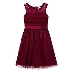 Uttam Kids - Pink mesh rose party dress