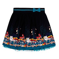 Uttam Kids - Black forest border print skirt