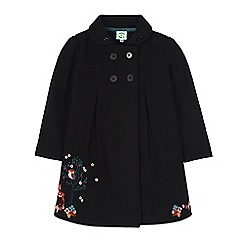 Uttam Kids - Black forest animals embroidered coat