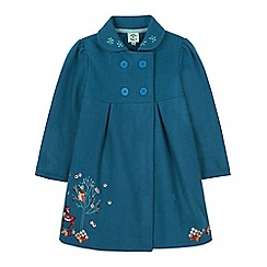Uttam Kids - Green forest animals embroidered coat