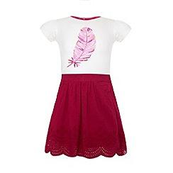 Uttam Kids - Feather t-shirt and cut-out skirt.