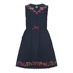 Uttam Kids - Embroidered neck dress.