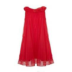 Uttam Kids - A-line mesh party dress.