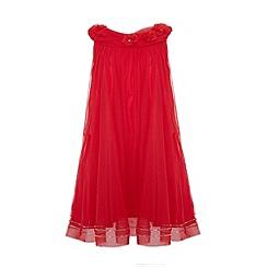 Uttam Kids - A-line mesh party dress.